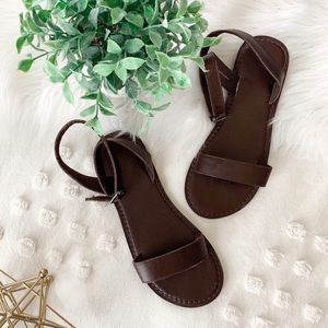 A&F Brown Sandals